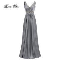 Women Sleeveless Sexy A Line Elegant Wedding Party Formal Gowns Long Evening Dress 2019