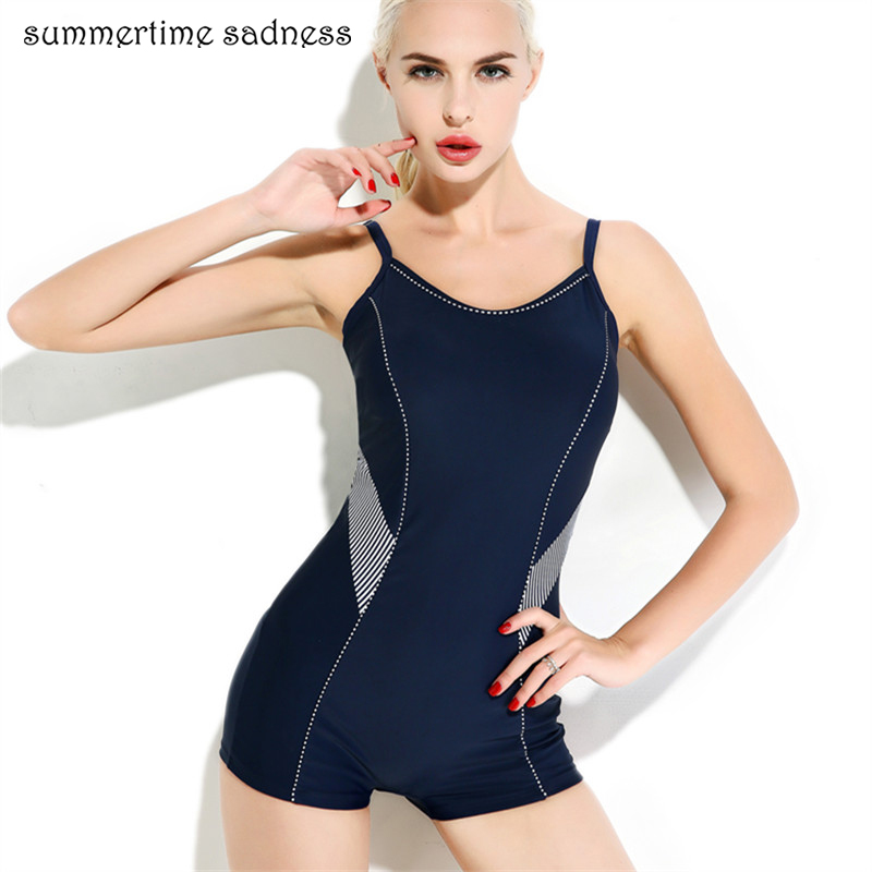 hot sell boxer shorts one piece swimsuit padded swimwear women push up bodysuits swim maillot. Black Bedroom Furniture Sets. Home Design Ideas