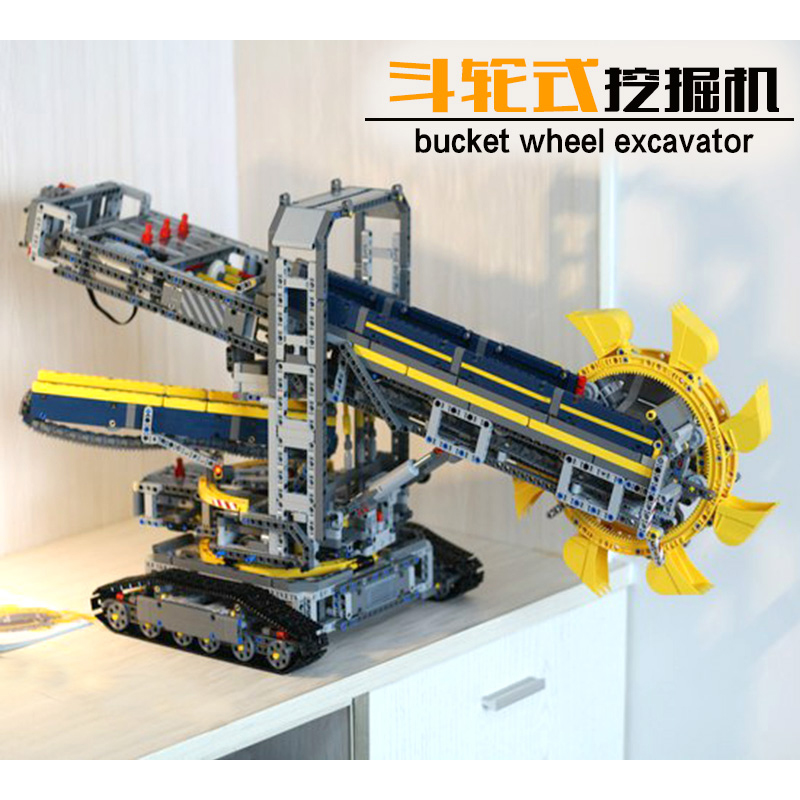 Lepin 20015 Bucket Wheel Excavator building bricks Toys for children Game Model Car Gift Compatible with Decool 42055 lepin 02005 volcano exploration base building bricks toys for children game model car gift compatible with decool 60124