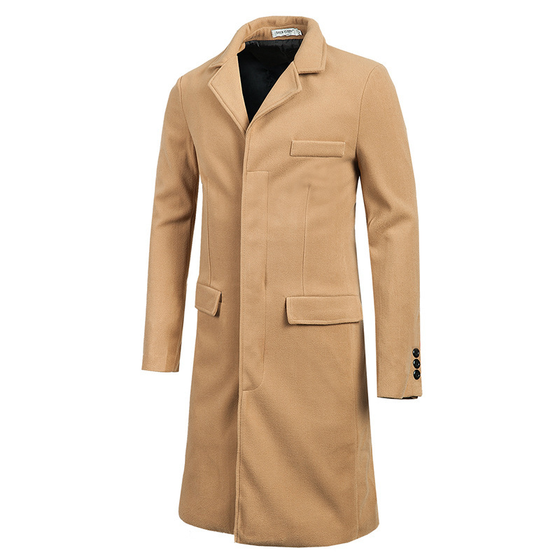 Men Extra Long Overcoat Promotion-Shop for Promotional Men Extra ...