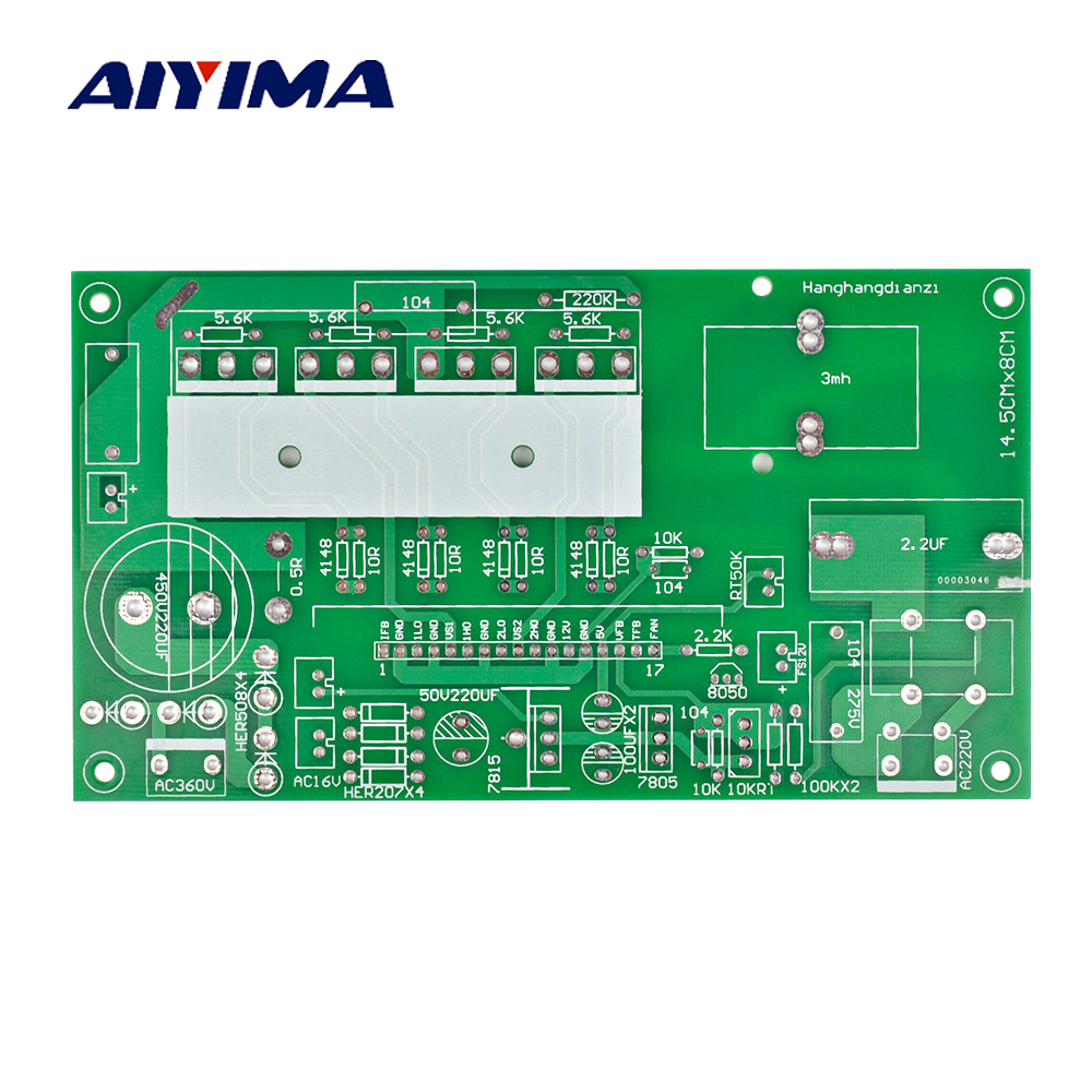 small resolution of aiyima sine wave inverter rear empty board 500w to 1800w universal bare board
