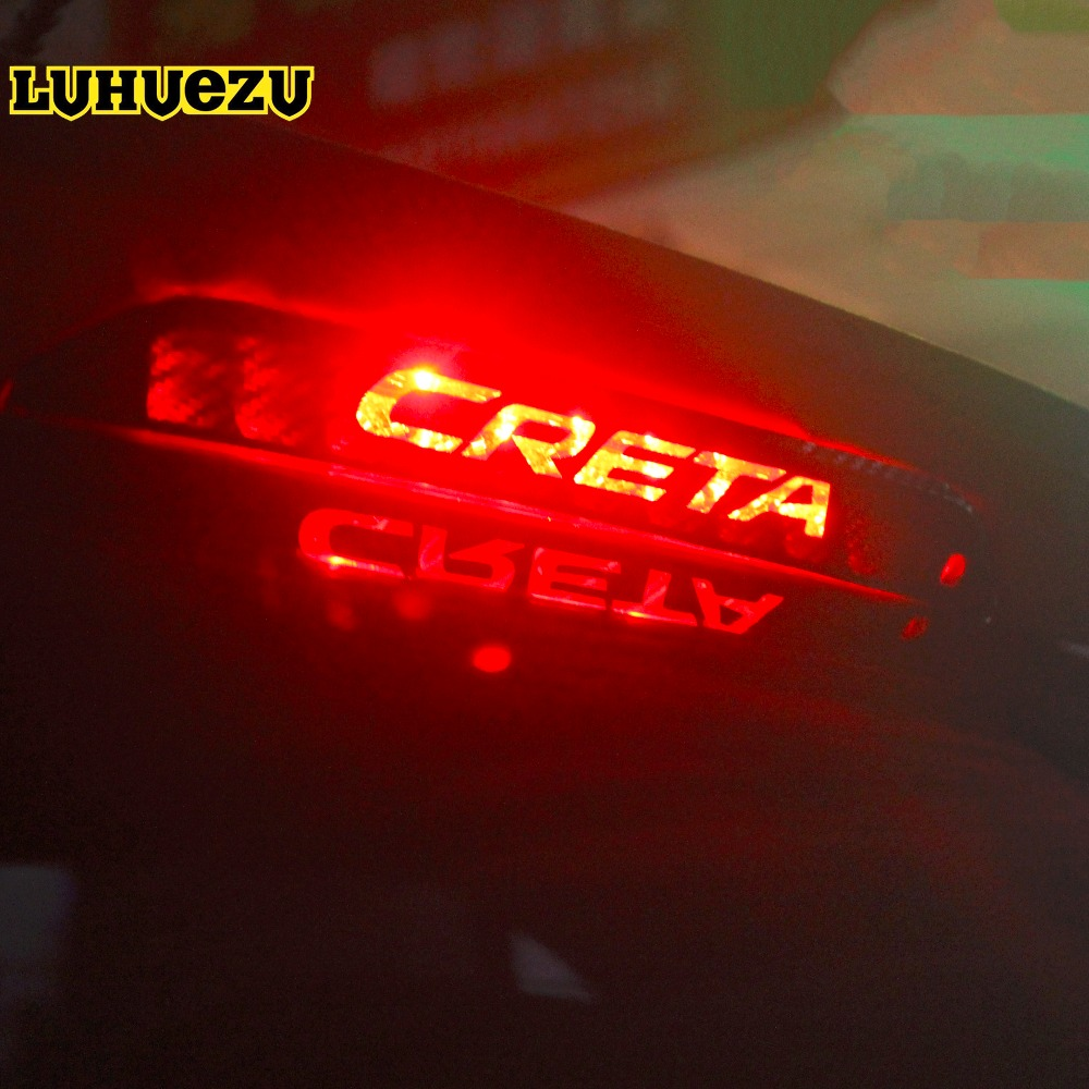 Rear High Braking Light Frame Styling Cover Protection trim  For Hyundai IX25 Creta 2015 2016 2017 2018 Accessories упоры капота автоупор для hyundai creta 2016 2 шт
