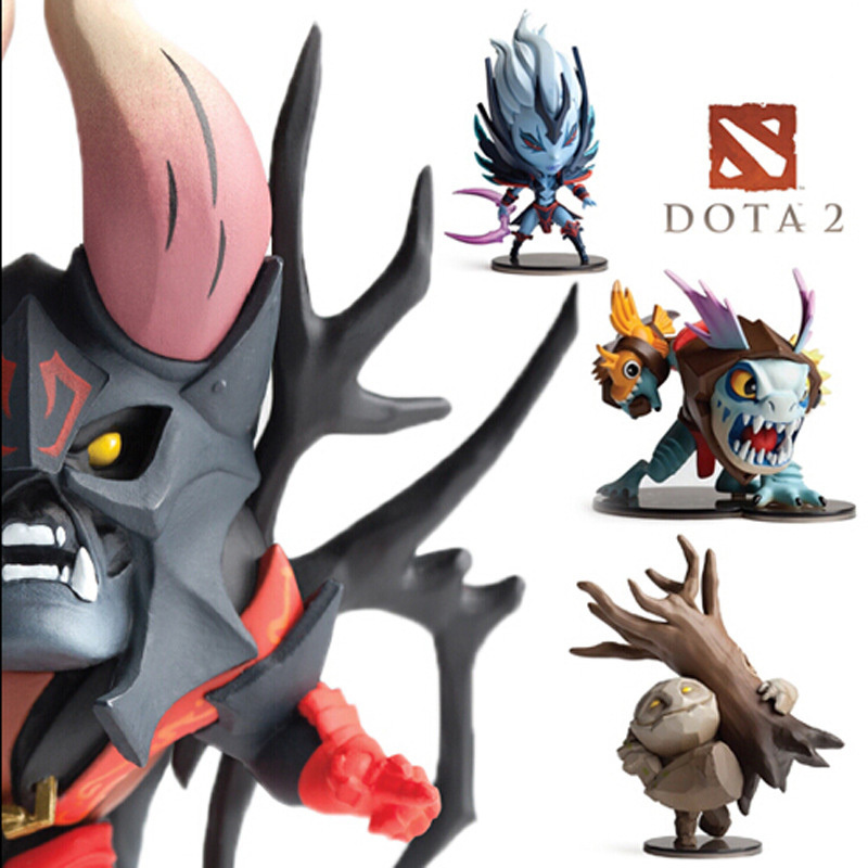 hot sale 4pcs/Set 2 Game Figure SLARK TINY Doom Boxed PVC Action Figures Collection dota2 Toys Models цена 2017