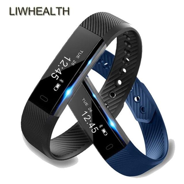 bc69616ef40 Moda Relógio Inteligente Pulseira Pedômetro Atividade Sono Rastreador  Smartwatch ID115 Homens Mulheres Crianças Smartwatch IOS Android PK fit Bit