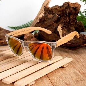 Image 4 - BOBO BIRD Unisex kare güneş gözlüğü kadın polarize ahşap güneş gözlüğü şeffaf renk erkekler gözlük lunette de soleil femme