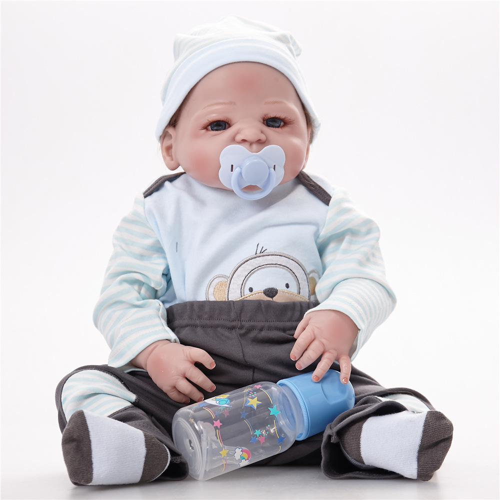 Reborn Baby Boy Lifelike Vinyl Simulation Doll Full Silicone Reborn Dolls Baby Realistic Boy Doll SF5525 Reborn Dolls Boys warkings reborn