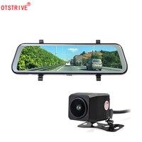 Otstrive 10 inch Full Screen Dual Lens DVR Full HD 1080P Back Camera Rear View Mirror Waterproof Night Vision Video Recorder DVR