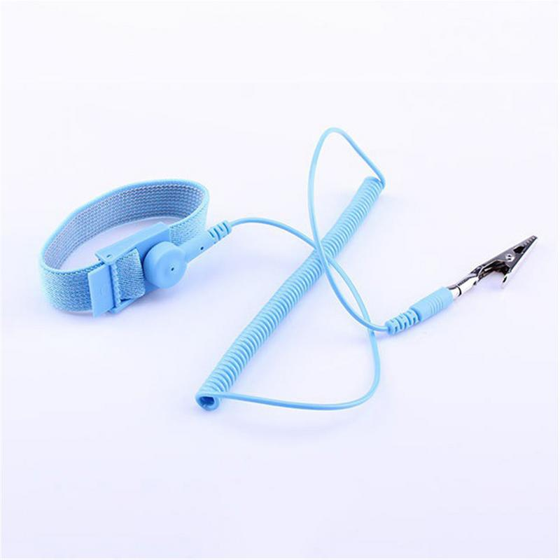 1pcs New Anti-static Esd Wrist Strap Discharge Band Grounding Prevent Static 1.8m Cable For Electrition Ic Plcc Work