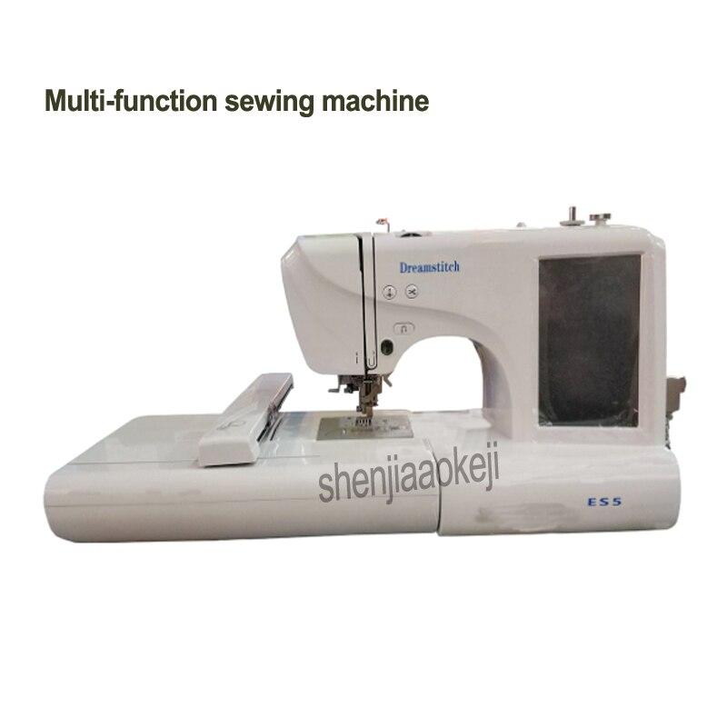 Machine à coudre domestique multi-fonction couture broderie mécanique petit ordinateur Machine à broder 220 V 45 W 1 PC