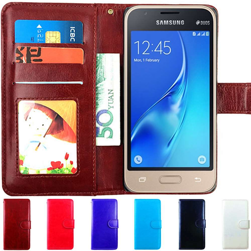 competitive price 01138 3c887 US $3.64 21% OFF|Flip Case For Samsung Galaxy J1 Mini Case Phone Wallet  Leather Cover Duos J105H J105 SM J105H DS 105 J 1 mini 2016-in Flip Cases  from ...