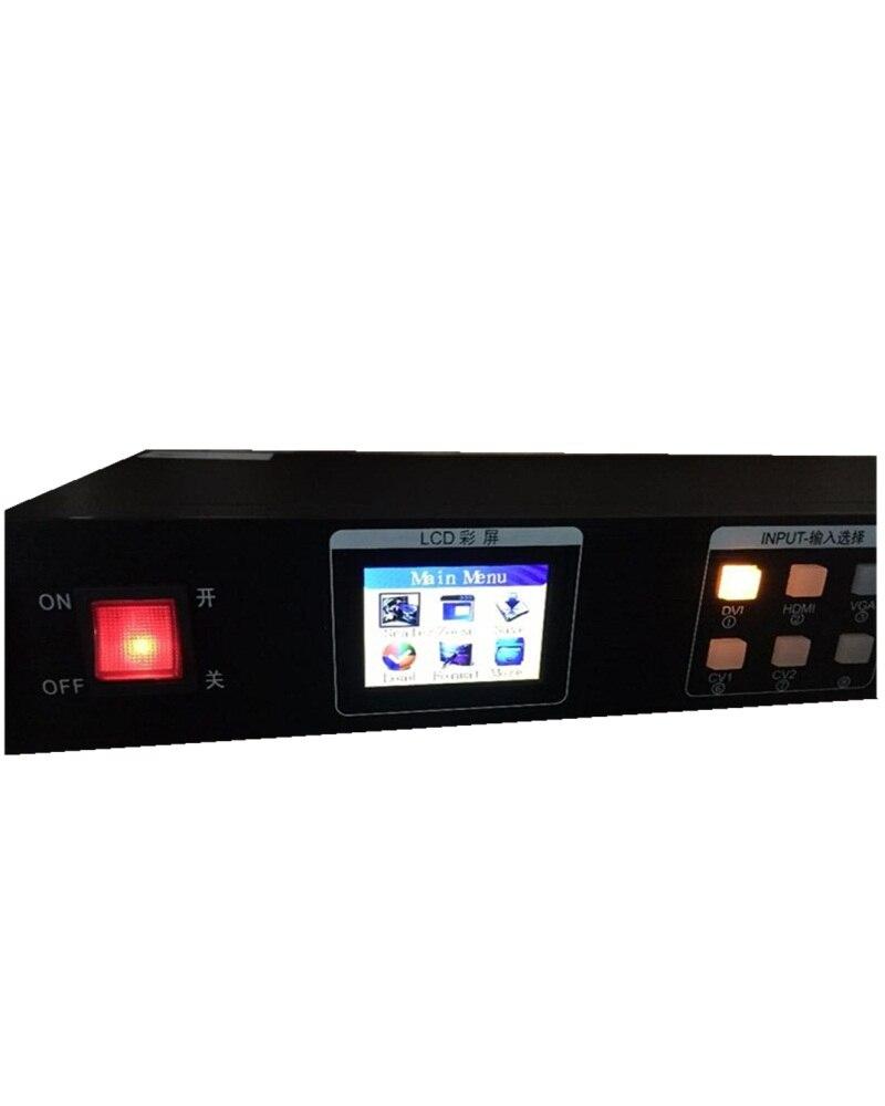 Support 2048 * 1152/2304*816 1*VGA 1*USB 2 LED Transmission Cards KYSTAR KS600 HD Text Flash Graphics &Logo Video Processor