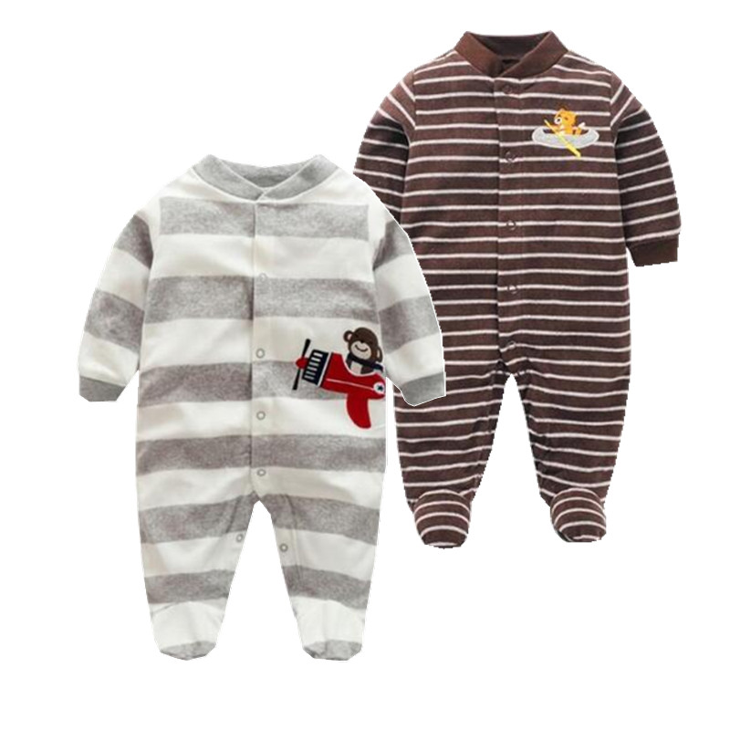 New 2017 spring Newborn  Rompers  Baby Boys romper warm fleece  Baby Jumpsuit  0-12M cheap infant clothing from orangemom winter warm thicken newborn baby rompers infant clothing cotton baby jumpsuit long sleeve boys rompers costumes baby romper