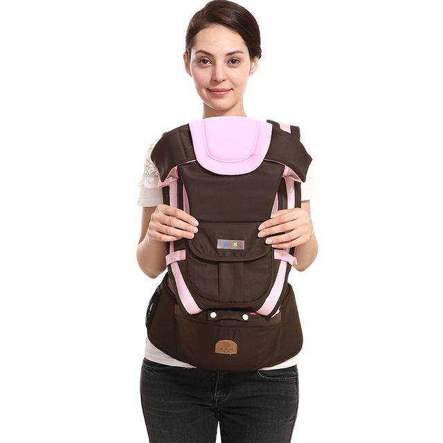 Comfortable Sturdy Ergonomic Baby Carrier – Breathable Orange