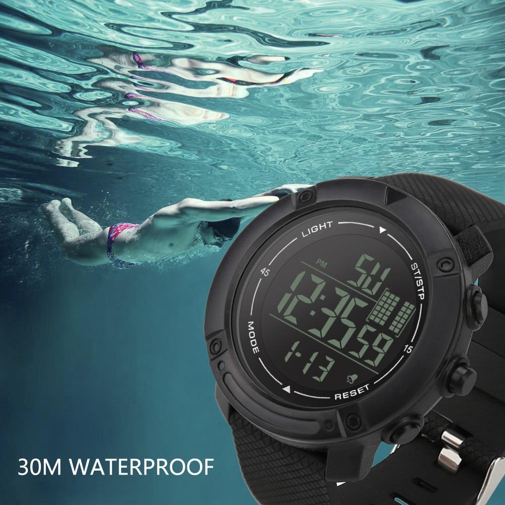 Luxus Männer Sport Wasserdichte Uhren Digital Led Military Uhr Männer Mode Casual Elektronische Armbanduhren Relogio Masculino Taille Und Sehnen StäRken Digitale Uhren