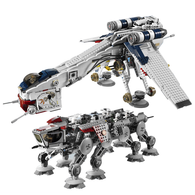 Lepin  05053 Star Series War New 1788Pcs Genuine The Republic Toys Dropship Set Building Blocks Bricks Children Toys 10195 herbert george wells the war of the worlds