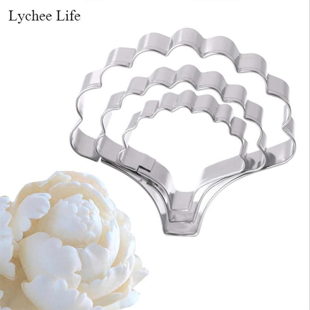 ลิ้นจี่ Life 3 ชิ้น/เซ็ตสแตนเลสกลีบดอกไม้ตัดแม่พิมพ์ Designer DIY Polymer Clay Cutter เครื่องมือ