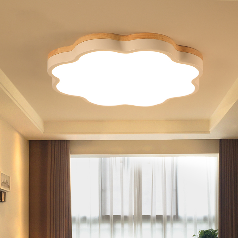 Modern wooden ceiling lamps living room ceiling lights children's bedroom Ceiling lighting LED nordic illumination fixtures modern led ceiling lights nordic living room fixtures novelty crystal bedroom ceiling lamps iron glass ceiling lighting