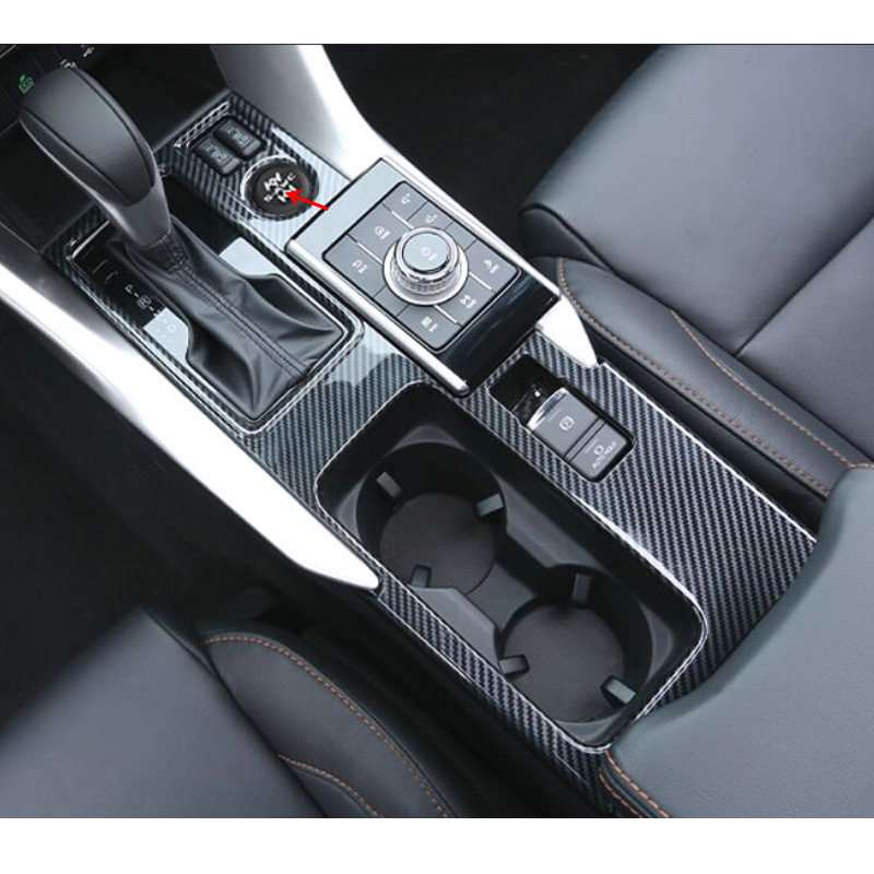 For Mitsubishi Eclipse Cross 2017 2018 2019 Central Gear Shift Box Panel Decoration Frame Cover Trim Interior Car Accessories