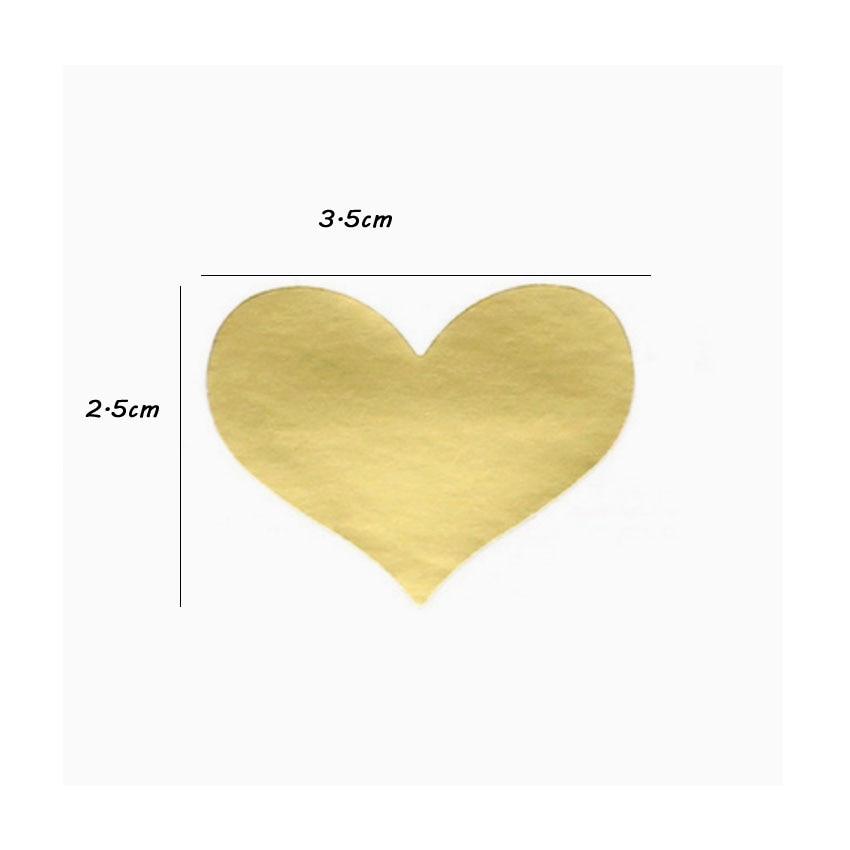 Купить с кэшбэком 120pcs/lot Lovely Golden Heart Handmade Adhesive Kraft Seal Sticker for Baking Gift Label Stickers Funny DIY Gift