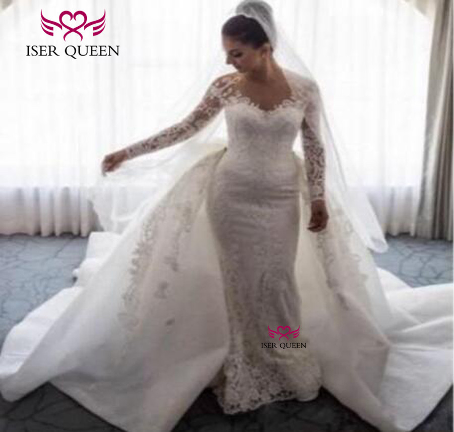 Wedding Dresses With Detachable Tail: Good Quality Mid East Wedding Dresses Mermaid Style