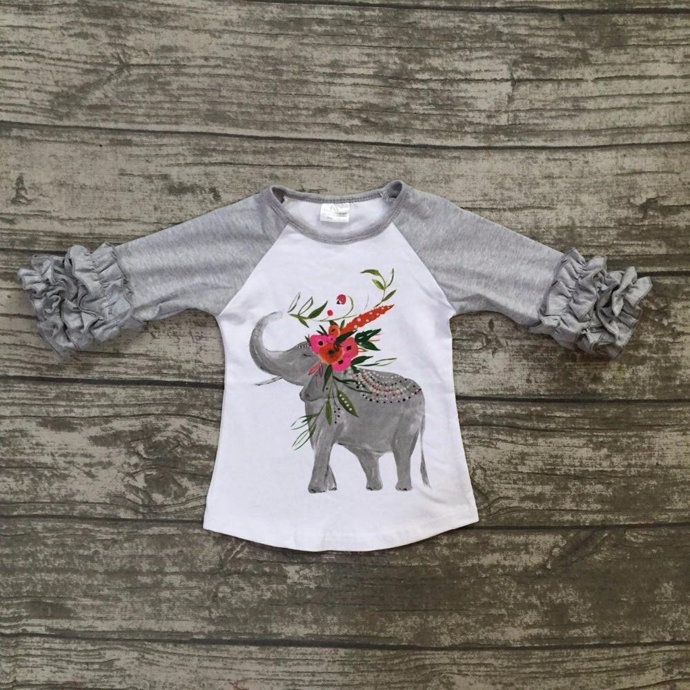 2018 Autumn Children T shirt Cotton Cartoon Girls Top Cotton Kids tshirt Fashion Girls Clothes