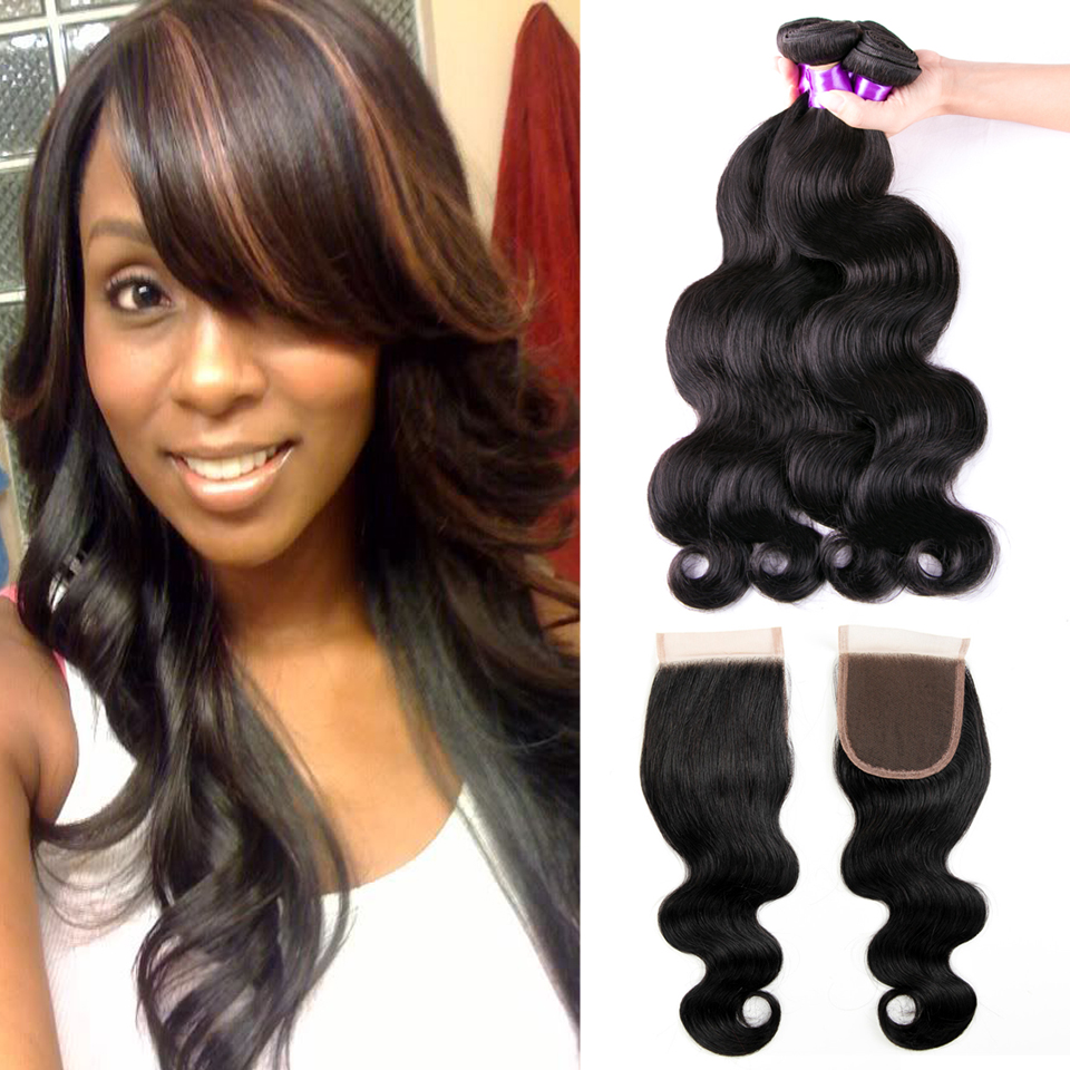 Hearty Hj Weave Beauty 7a Bundles With Frontal Human Hair Peruvian Hair Weave Bundles Body Wave Virgin Hair Free Shipping Goods Of Every Description Are Available 3/4 Bundles With Closure