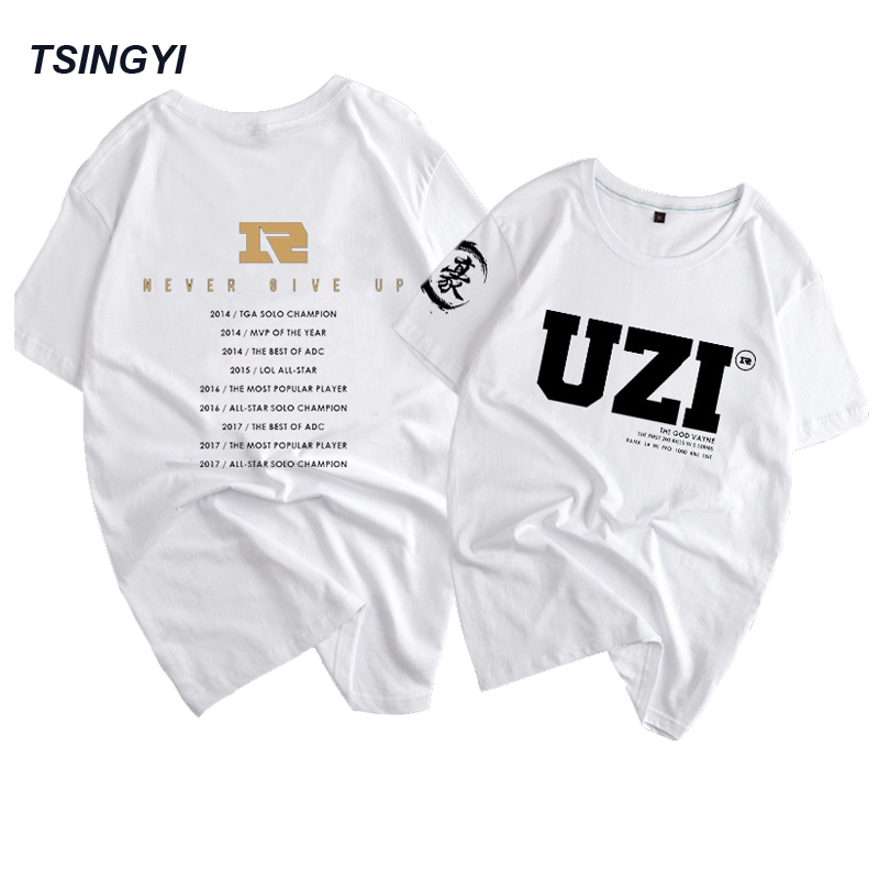 Tsingyi Customize Funs T Shirt LOL MSI Champion RNG UZI Letme Xiaohu Karsa Women Men T shirt Camisetas Hombre Tee Shirt Homme