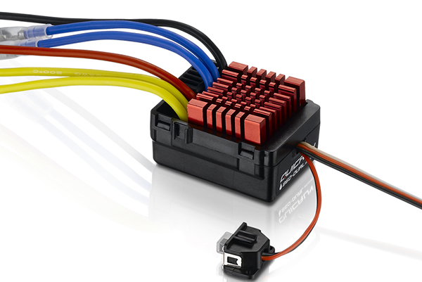 Hobbywing QuicRun WP-860 Dual 60A Waterproof Brushed ESC For 1/8 RC Car crawler F17554 hobbywing ezrun max8 v3 t trx plug waterproof 150a esc brushless esc 4274 2200kv motor led program card for 1 8 rc car crawler