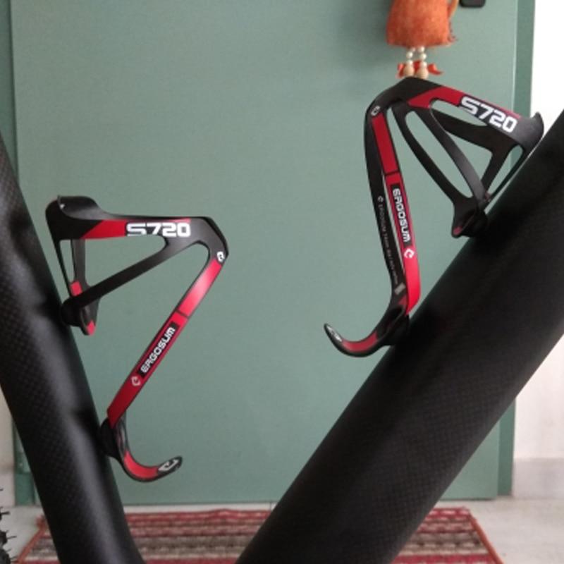 Carbon Fiber Cycling Bike Bicycle Drink Water Bottle Holder Cage Rage Rack Blac