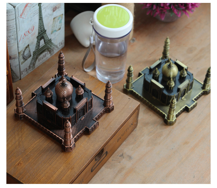 1pc taj mahal metal building model metal crafts office for Home decorations gifts