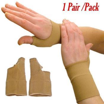 1 Par Terapia Guantes Gel De Pulgar Mano Guantes Apoyo Artritis De