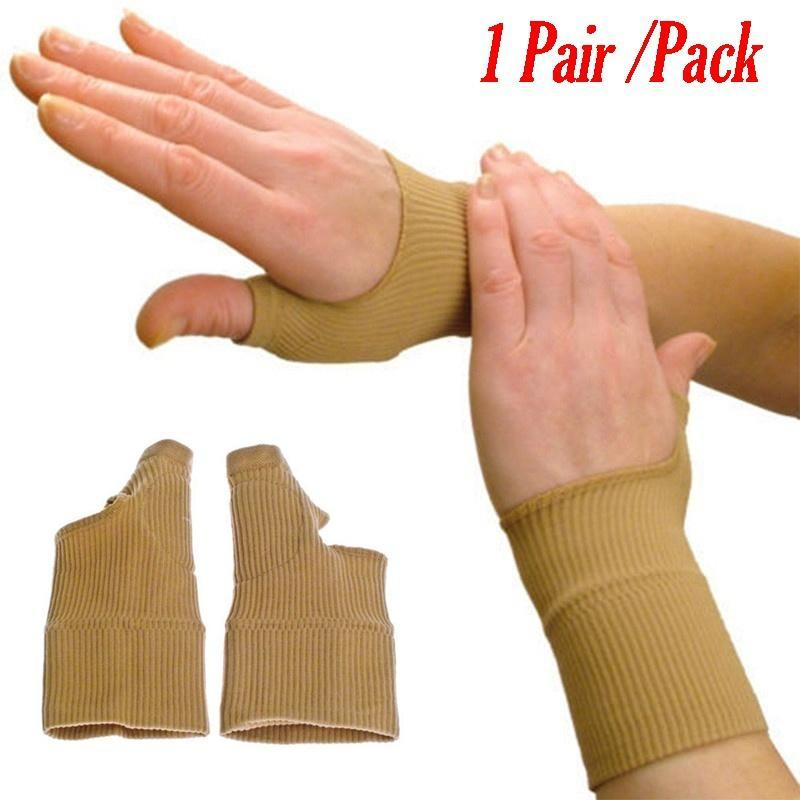 1pair Therapy Gloves Gel Filled Thumb Hand Wrist Gloves Support Arthritis Compression Raynaud