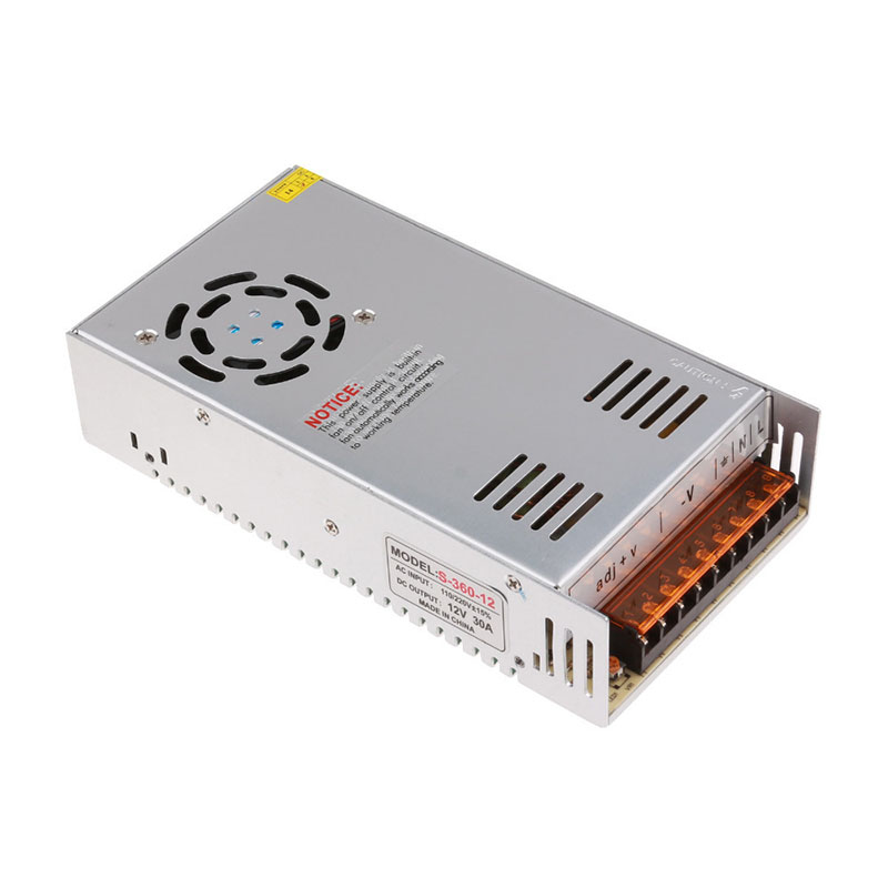 12v 30a power supply 30A 360W adapter 12v switching power supply adapter led strip SM5050 SMD3528 SMD5630 light transformer