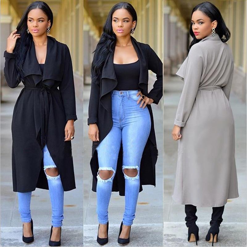 Aliexpress.com : Buy 2016 Fashion Trench Coat Long Sleeve ...
