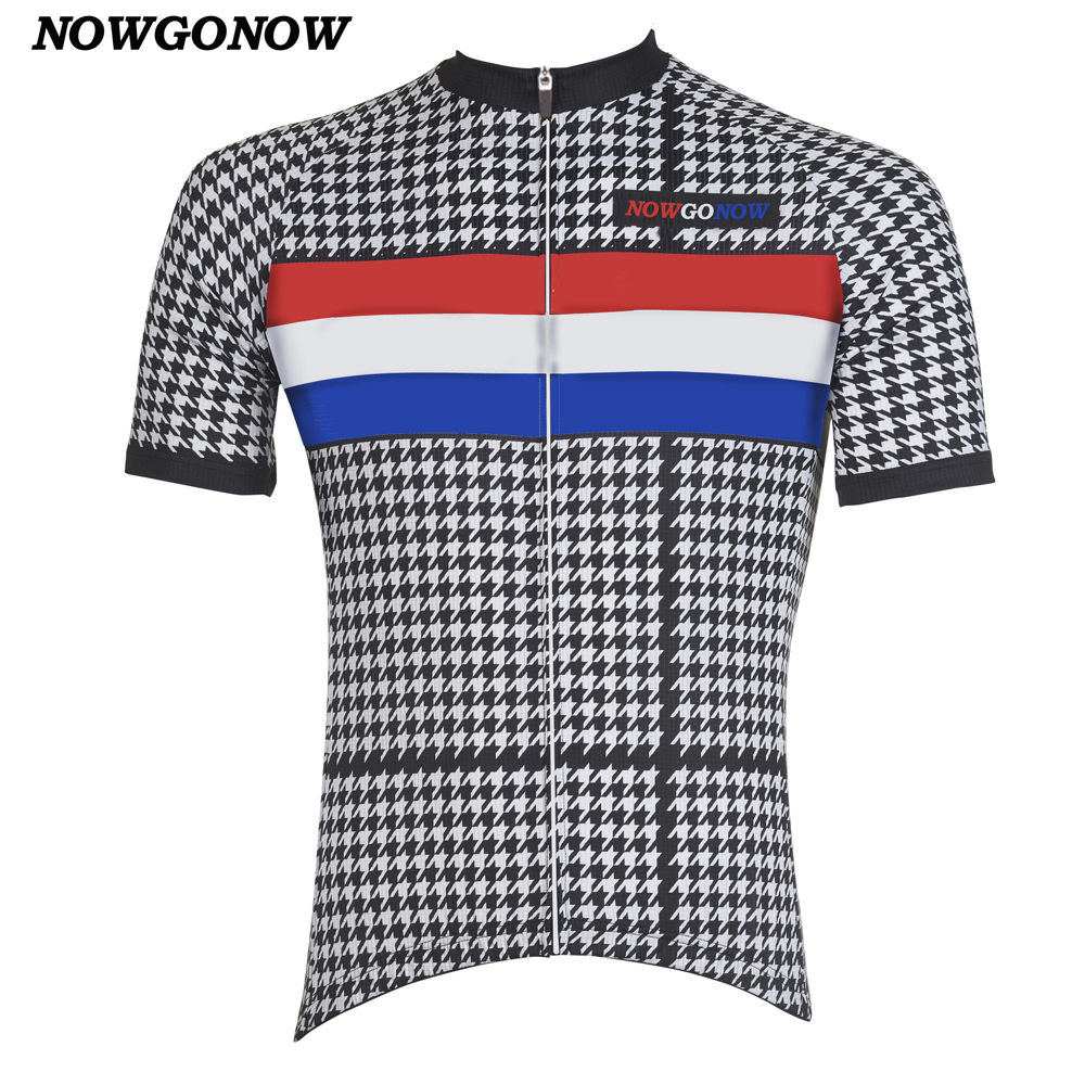newest dae19 279cc US $16.88 |NOWGONOW 2017 cycling jersey dutch classic Netherlands black  Retro clothing cool bike wear hot road Wholesale can be customed-in Cycling  ...