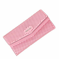 New Hot Sale Women's Wallet Fashion Long Lady Wallet Casual Clutch Bag Three fmulti ford Nction Coin Purse Hollow Wallet