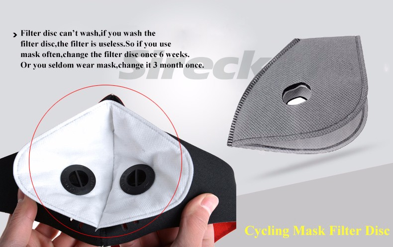 Sireck Cycling Mask Activated Carbon Dustproof Training Face Mask Anti-pollution Sports Running Bike Ski Mask Sport Facemask