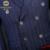 Novas Chegadas dos homens Paletós 3 Peça (Jaqueta + Calça + Colete) Adaptados Fino Azul Risca de Giz terno Para Homens Londres Ternos Por Atacado