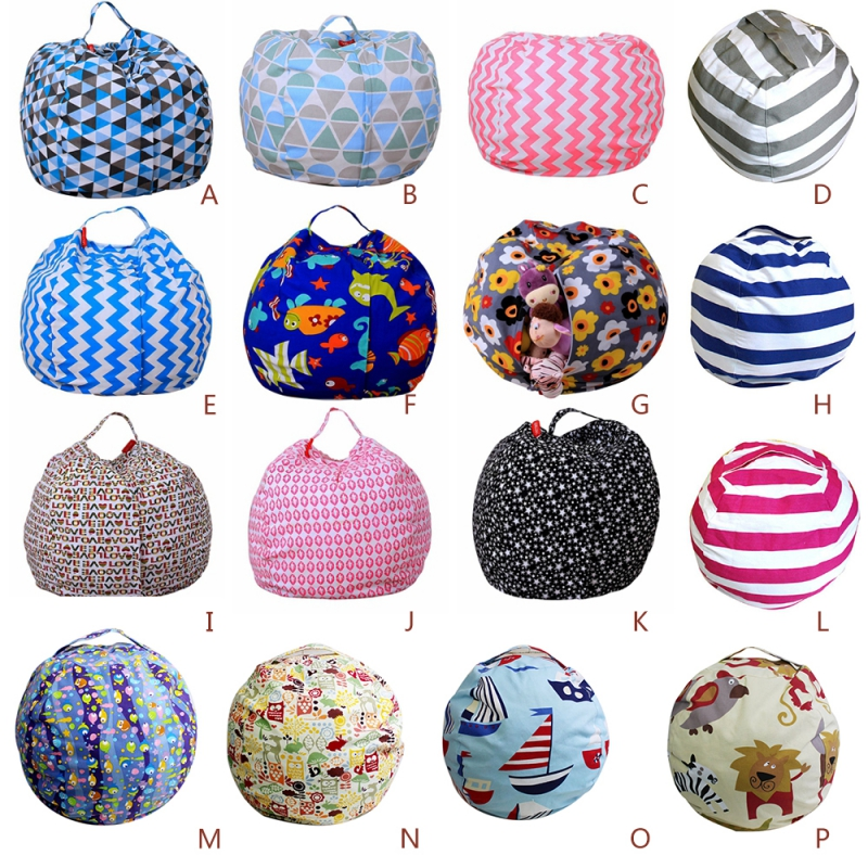 Stuffed Animal Storage Bean Bag Chair Portable Kids Toy Storage Bag Modern Creative Storage Play Mat Clothes Organizer Tool