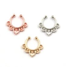 30pcs faux piercing nez silver and rose gold clip on