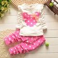 Девочек одежда устанавливает 0-7Y длинным рукавом симпатичные минни микки устанавливает детская одежда новорожденных девочек conjuntos infantis menina ropa де bebe