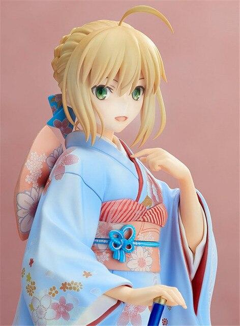 25 cm Fate Stay night saber kimono action figure PVC jouets collection anime de bande dessinée modèle jouets collection