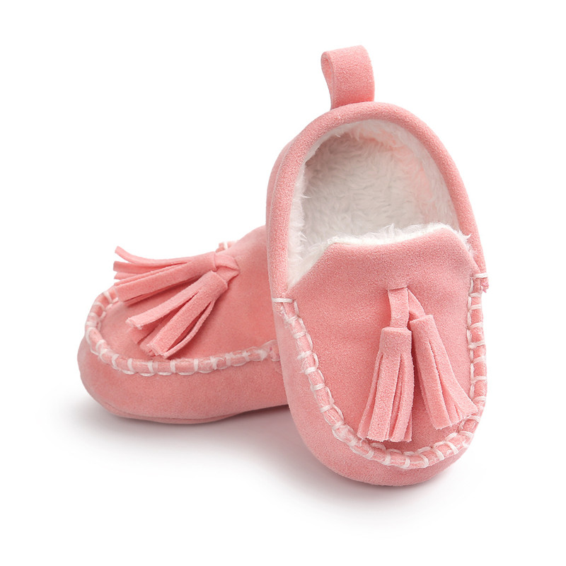 ROMIRUS 2017 Winter Tassel Baby Moccasin Soft Bottom Infant Moccasin-gommino Newborn Babies Shoes PU Leather Prewalkers Boots