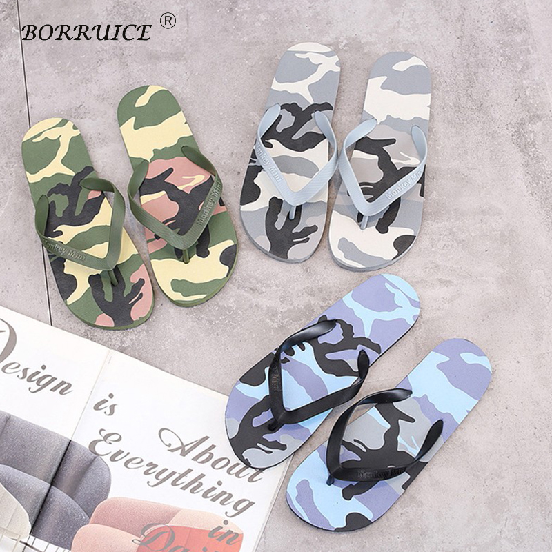 Sagace Mens Slippers Simple Fashion Summer Character Letter Print Flip Flops Non-slip Clip Feet Beach Mens Slippers May25 Men's Shoes