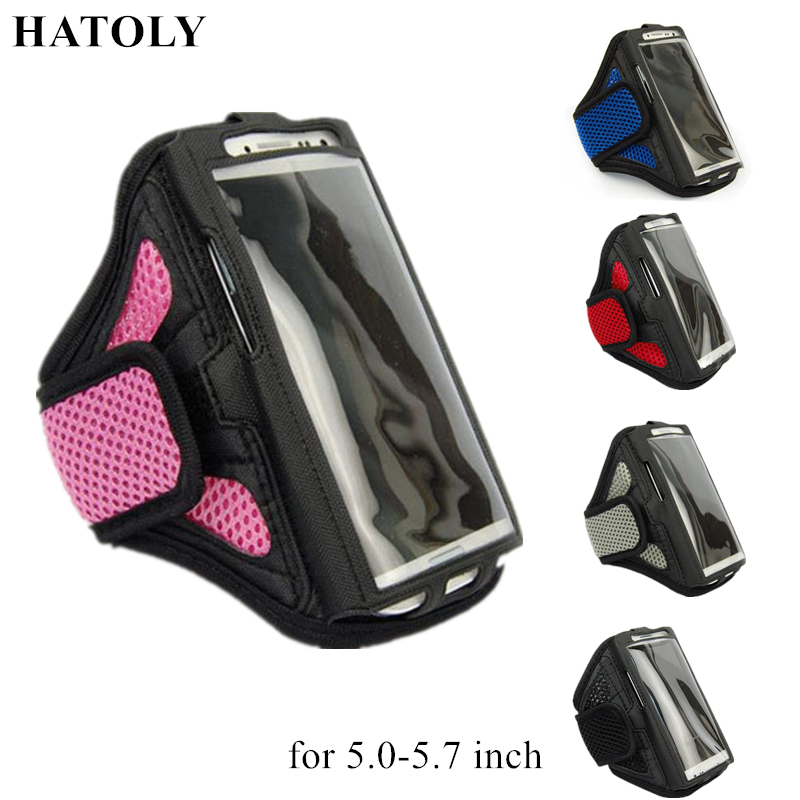 HATOLY Running Sport Bags Arm band Case For 5.0-5.7 inch Phone Case For Apple iPhone 8 Plus Smartphones Sports Phone Bags <
