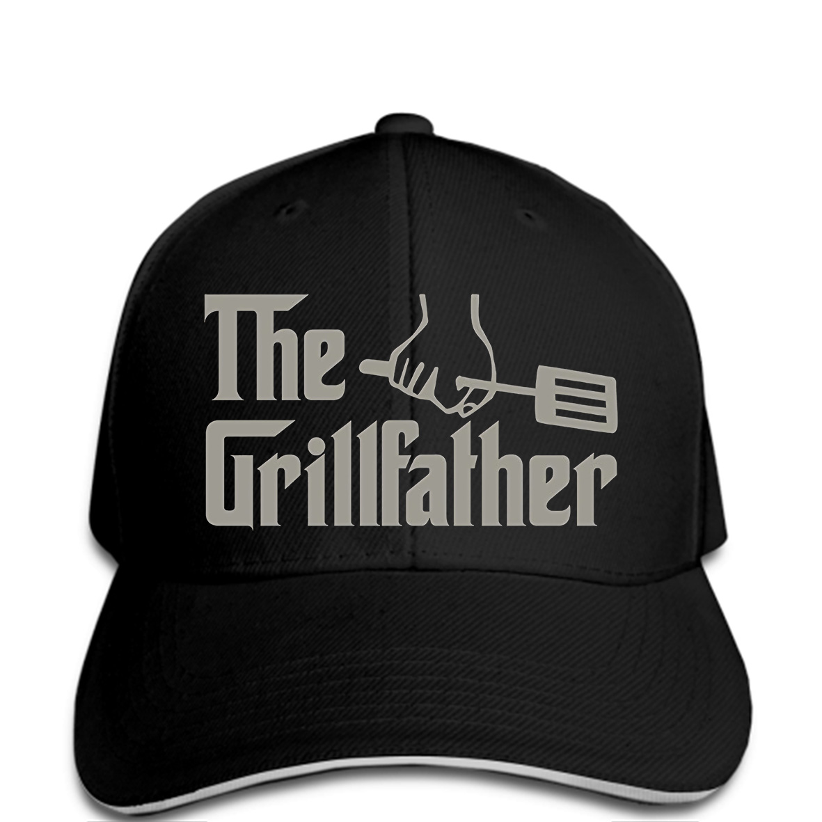 Baseball cap Men's Fashion The Grillfather Grey Funny BBQ Grill Chef snapback Hat