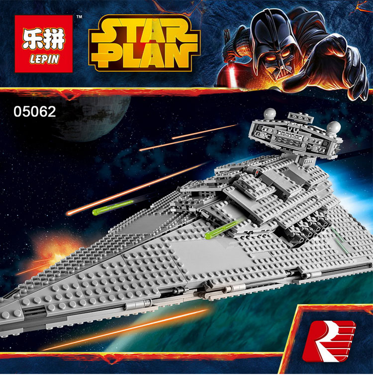 Lepin 05062 Star War Series The Imperial Super Star Destroyer Set Educational Building Blocks Bricks Compatible legoed 75055 new lepin 16009 1151pcs queen anne s revenge pirates of the caribbean building blocks set compatible legoed with 4195 children