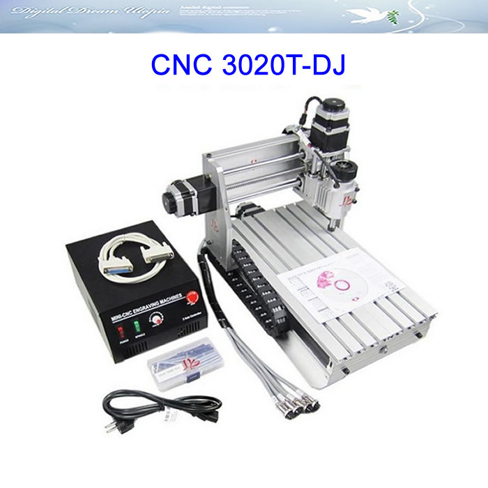 Free ship to Russia, no TAX ! 3020T-DJ CNC Engraving machine , upgraded from CNC 3020, woodworking machines free ship to russia