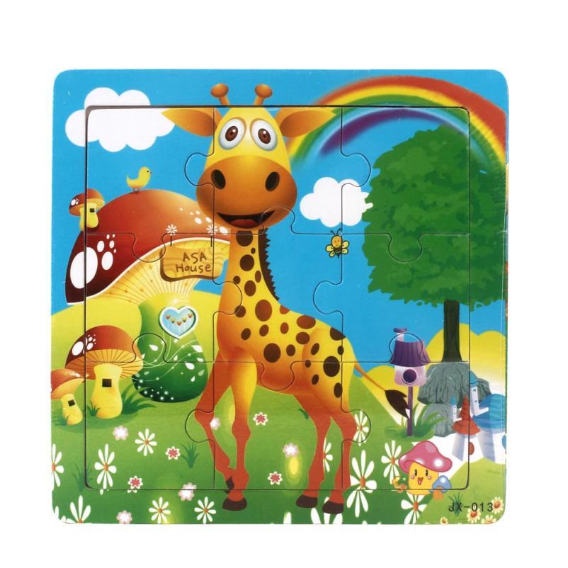 9 шт. деревянные детские головоломки животных Игрушечные лошадки для Для детей образования и обучения головоломки Паззлы Игрушечные лошадк...