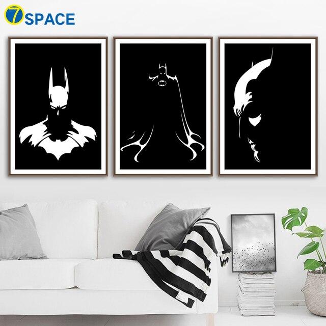Cartoon Superhero Batman Wall Art Canvas Painting Nordic Posters And